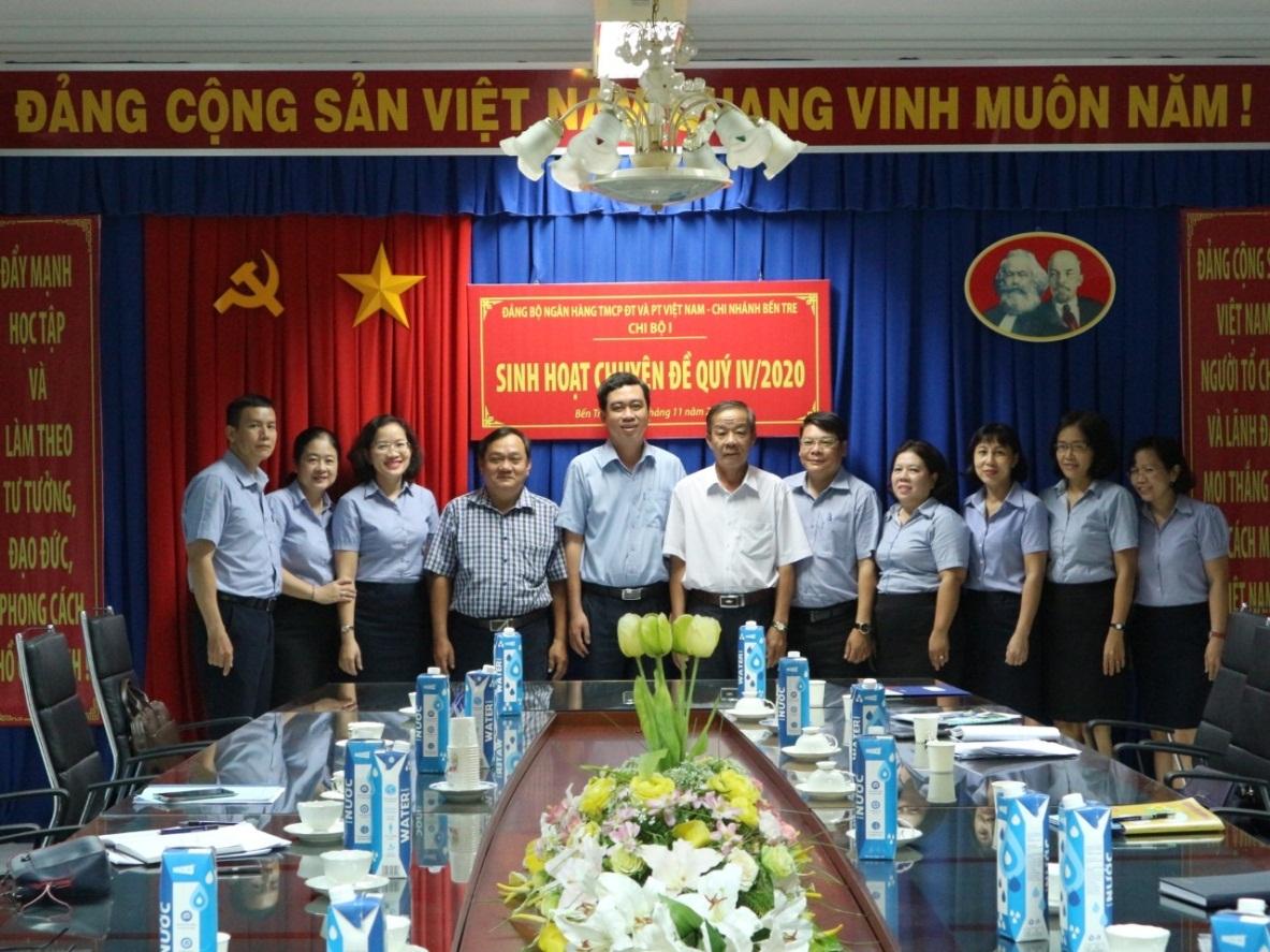Chi bộ I, Đảng bộ BIDV Bến Tre tổ chức sinh hoạt chuyên đề quý IV/2020