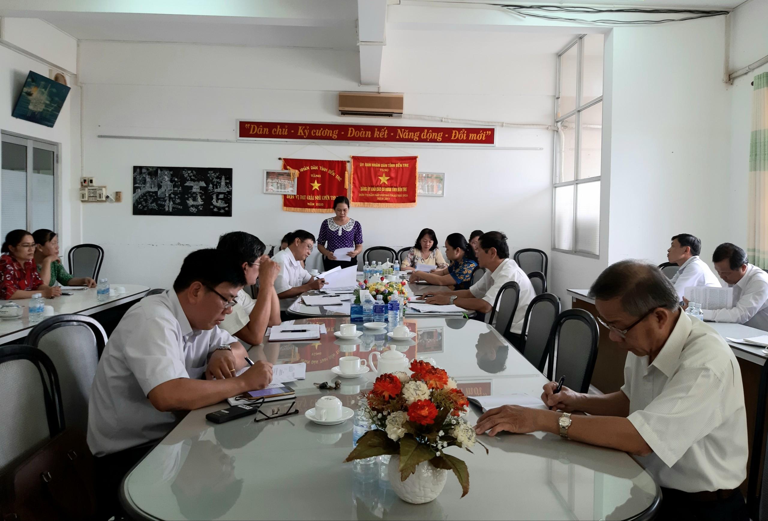Chi bộ cơ quan Đảng ủy Khối Cơ quan – Doanh nghiệp tỉnh sinh hoạt chuyên đề quý III/2020
