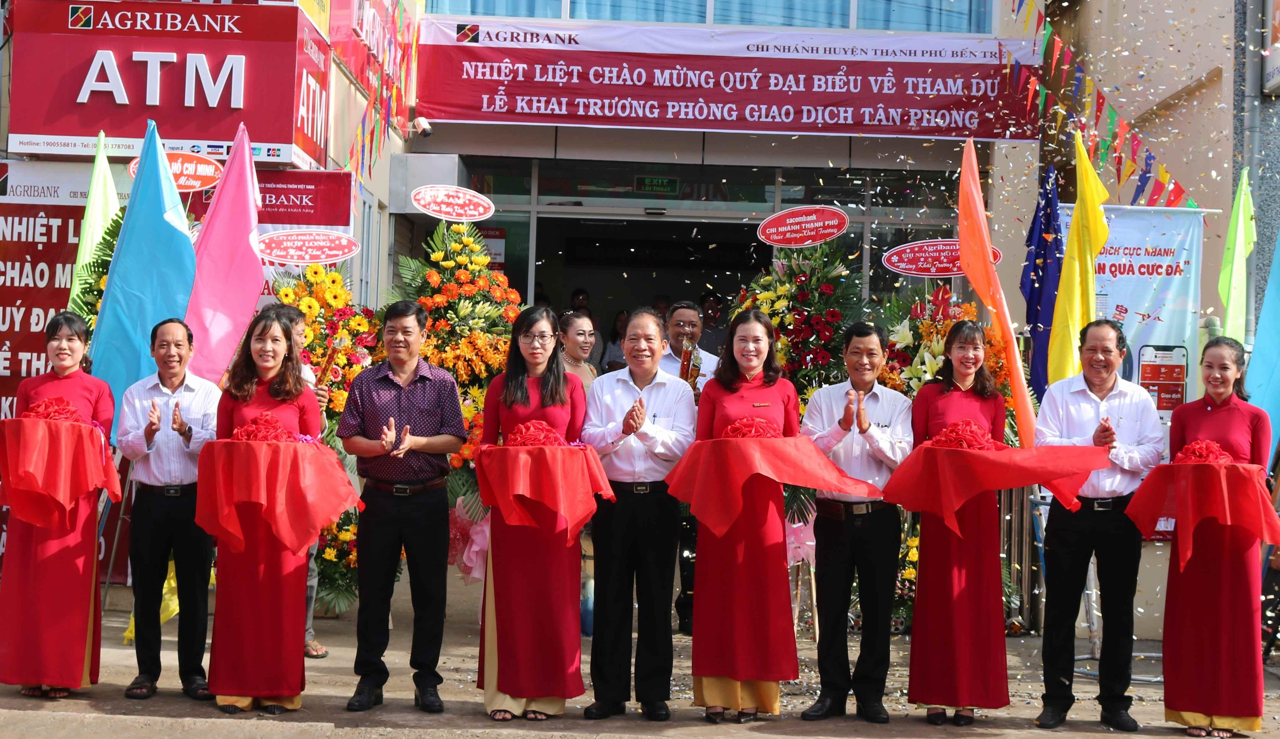 Agribank Bến Tre: Khai trương Phòng Giao dịch Tân Phong, huyện Thạnh Phú