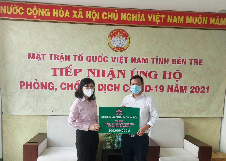 Ngân hàng Chính sách xã hội ủng hộ công tác phòng, chống dịch COVID -19 trên địa bàn tỉnh Bến Tre