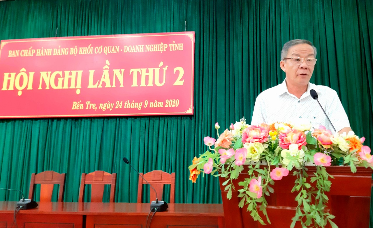 Đảng ủy Khối Cơ quan - Doanh nghiệp tỉnh sơ kết 9 tháng đầu năm 2020